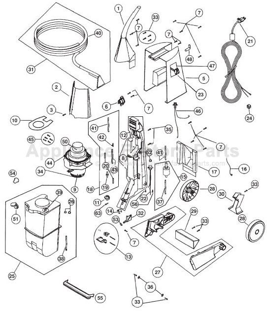 Parts for XLS700   Oreck   Vacuum Cleaners
