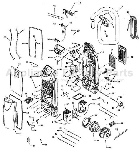 Parts For 116 35922500 Kenmore Vacuum Cleaners