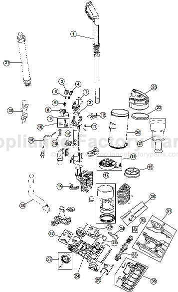 parts for uh70400 hoover vacuum cleaners