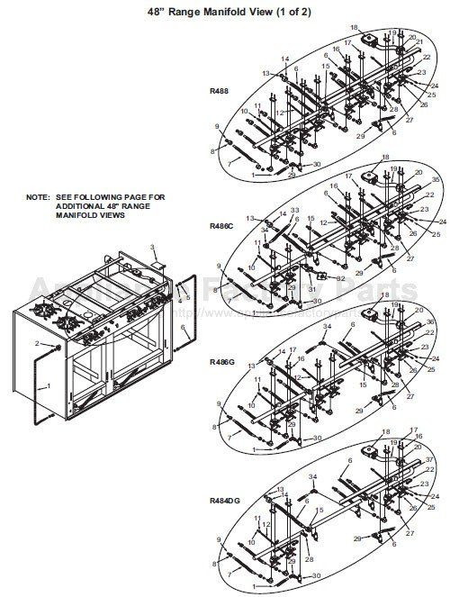 Parts For R48 Series Wolf Electric Ranges
