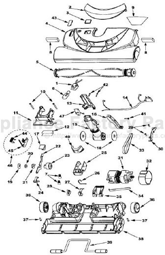 Parts for 116.23612300 | Kenmore | Vacuum Cleaners