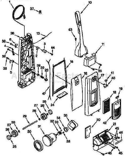 Parts for 11638612790 Kenmore – Kenmore Vacuum Wiring Diagram