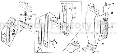 parts for g3 generation 3 kirby vacuum cleaners. Black Bedroom Furniture Sets. Home Design Ideas