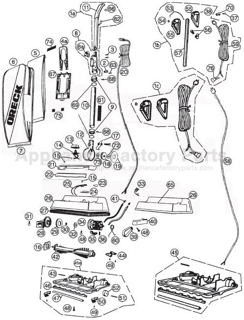 oreck handle wiring diagram for parts for 2400rs | oreck | vacuum cleaners 4 way trailer electric brake controller wiring diagram for for lights