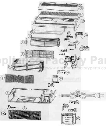 Parts for AIR 8   Oreck   Air Cleaners