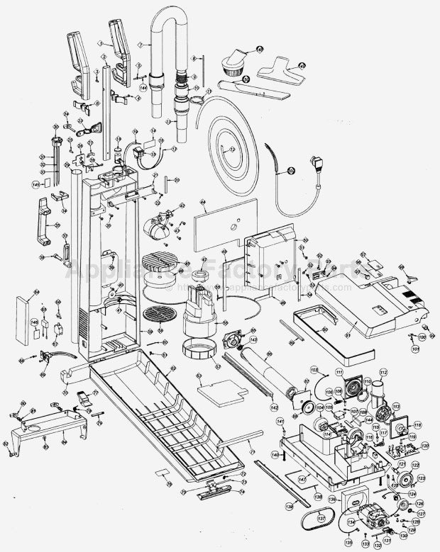 oreck vacuum cleaner parts diagram   34 wiring diagram