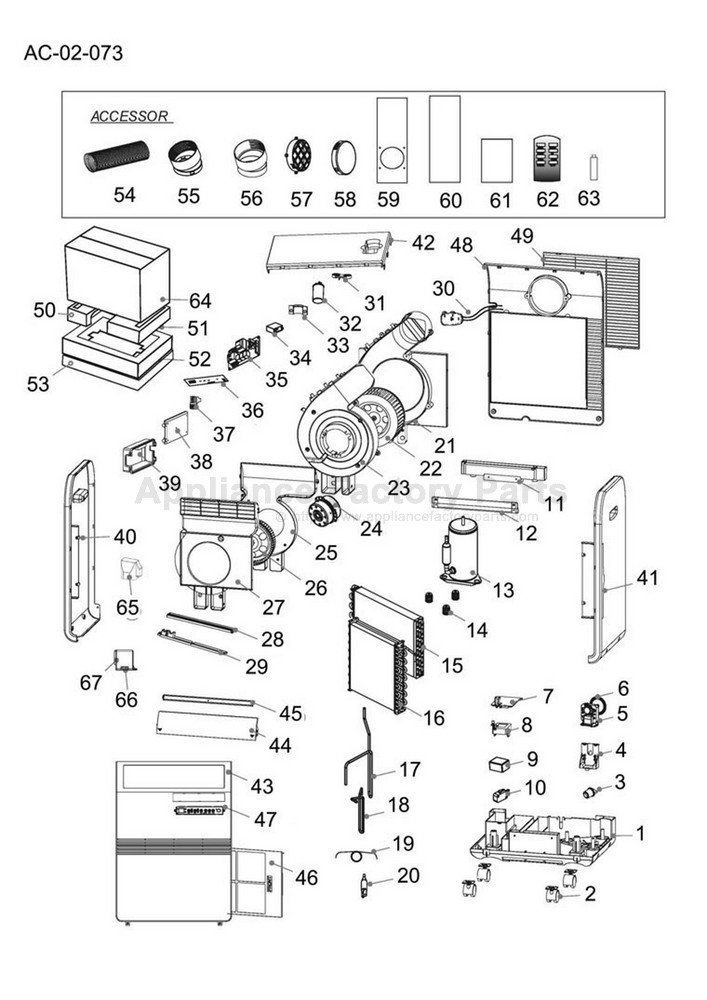 Parts for CPRB08XCJ T Haier Air Conditioners