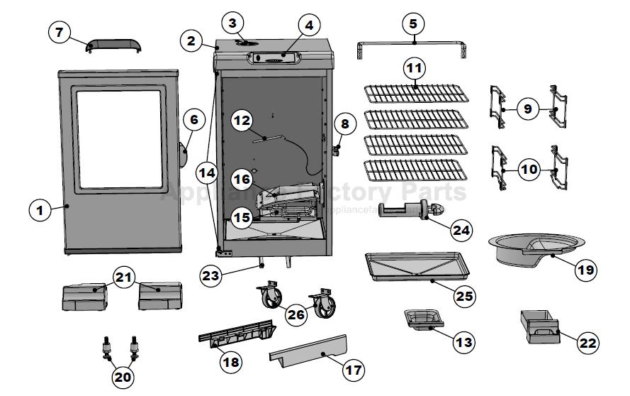 Masterbuilt 20072115 Bbq Parts