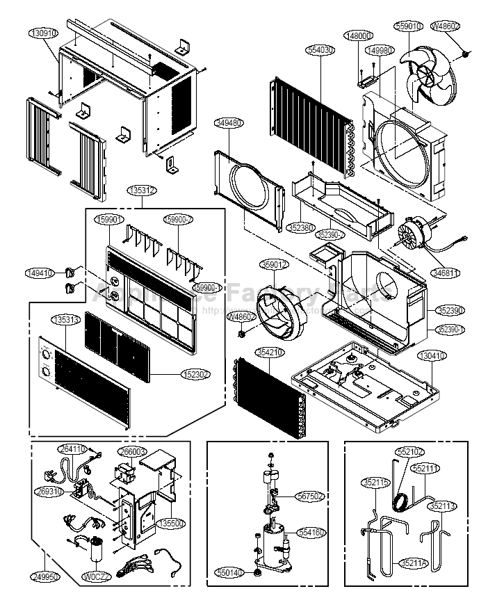 Home Air Conditioner Parts Diagram